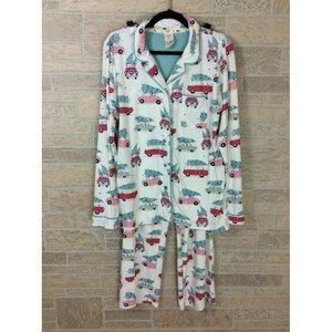 Munki Munki Christmas Tree Pajamas Pant Set Large